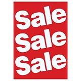 "Image of Sales Poster with ""Sale"" Text / A1 / White on Red"