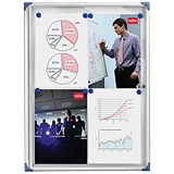 Image of Nobo Extra-flat Noticeboard with Lockable Glazed Case / 4xA4 / W550xD50xH735mm