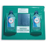 Image of Wallace Cameron First-Aid Emergency Eyewash Station / 2x500ml Bottles / W445xH342mm