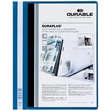 Image of Durable A4 Duraplus Quotation Folders / Blue / Pack of 25