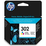 Image of HP 302 Ink Cartridge Tri Colour