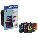 Image of Brother LC123 Inkjet Cartridge Rainbow Pack - Cyan, Magenta and Yellow (3 Cartridges)