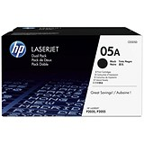 Image of HP 05A Black LaserJet Toner Cartridge (Twinpack)