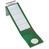 Image of Durable Ordofix Self-adhesive PVC Spine Labels for Lever Arch File / Green / 8090/05 / Pack of 10