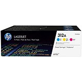 Image of HP 312A LaserJet Toner Multipack - Cyan, Magenta and Yellow (3 Cartridges)