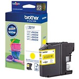 Image of Brother LC221 Yellow Inkjet Cartridge