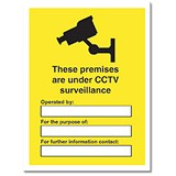 Image of Stewart Superior Outdoor Sign These Premises are under CCTV Surveillance Foam PVC W300xH400mm Ref FB073