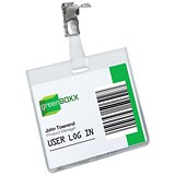 Image of Durable Name Badges Security with Rotating Clip / 60x90mm / Pack of 25