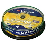 Image of Verbatim DVD+RW Spindle - Pack of 10