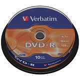 Image of Verbatim DVD-R Spindle - Pack of 10