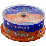Image of Verbatim DVD-R Spindle - Pack of 25