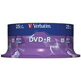 Image of Verbatim DVD+R Spindle - Pack of 25