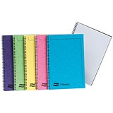 Image of Europa Notebook Twinwire Sidebound Ruled 90gsm 120pp Micro-perforated A4 Assorted Ref 3154Z [Pack 10]