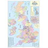 Image of Map Marketing UK Counties & Districts Map Framed Ref FRAM-BIC