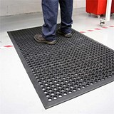 Image of Coba Ramp Mat Rubber Anti Fatigue Textured Anti Slip Bevelled Edge 800mx1200mm Ref RP010002