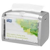 Image of Tork Xpressnap Tabletop Napkin Dispenser / One-at-a-Time / Grey