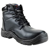 Toe Lite Boot / Leather look / Midsole / Size 8 / Black