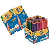 Image of Bic Kids Evolution Colouring Pencils Wood-free Resin Up to 24 Vibrant Colours Ref 907901 [Pack 288]
