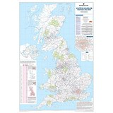 Image of Map Marketing UK Postcode Areas Map Framed Ref FRAM-BIPA