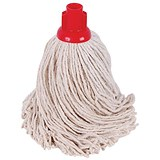 Robert Scott & Sons Smooth Surface Mop Head / Socket / PY Yarn / 16oz / Red / Pack of 10