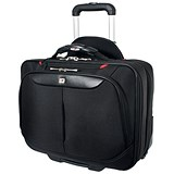 Image of Gino Ferrari Brooklyn Business Bag Padded Wheeled On-board Size 16in Laptop Black Ref GF565