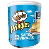 Pringles PopnGo Salt and Vinegar Crisps - Pack of 12 (40g)