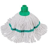 Image of Robert Scott & Sons Hygiemix T1 Socket Mop Cotton & Synthetic Colour-coded 200g Green Ref 103062GREEN