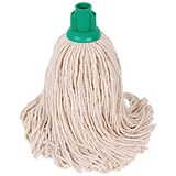 Robert Scott & Sons Smooth Surface Mop Head / Socket / PY Yarn / 16oz / Green / Pack of 10