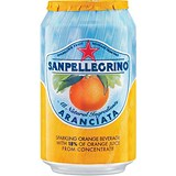 Image of San Pellegrino Sparkling Orange Citrus - 24 x 330ml Cans
