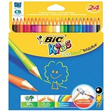 Image of Bic Kids Evolution Pencils / Splinter-proof / Vivid Assorted Colours / Pack of 24