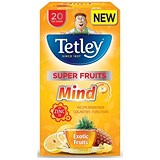 Image of Tetley Super Fruits Tea / Mind / Exotic Fruits / Zinc / Pack of 20