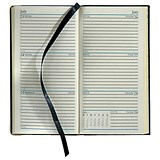 Image of Collins Classic Diary / Week to View / Slim / Black