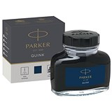 Image of Parker Quink Bottled Ink for Fountain Pens / 57ml / Black/Blue
