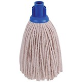Image of Robert Scott & Sons Smooth Surface Mop Head / Socket / PY Yarn / 12oz / Blue / Pack of 10