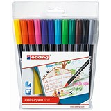 Image of Edding Colouring Pens / Fine / Washable / Assorted / Pack of 12