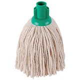 Robert Scott & Sons Smooth Surface Mop Head / Socket / PY Yarn / 12oz / Green / Pack of 10