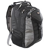 Gino Ferrari Inca 17inch Laptop Backpack with iPad/Tablet Pocket Black Ref GF503