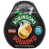 Image of Robinsons Squash'd Orange No Added Sugar - 6 x 66ml
