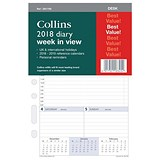 Image of Collins 2018 Desk Diary Refill - Week to View