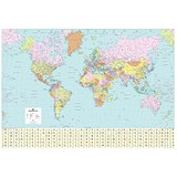 Image of Map Marketing World Political Map Framed Ref FRAM-BEX