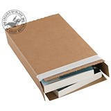 Image of Blakes Slimline Postal Box / Peel & Seal / W346 x D243 x H46mm / Kraft / Pack of 25