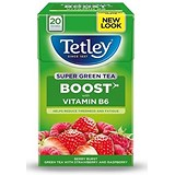 Image of Tetley Super Green Tea / Boost / Berry Burst / Vitamin B6 / Pack of 20