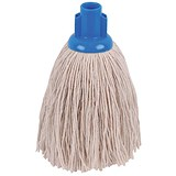 Image of Robert Scott & Sons Smooth Surface Mop Head / Socket / Twine / 16oz / Blue / Pack of 10