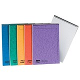 Image of Europa Notebook Twinwire Headbound Ruled 90gsm 120pp Micro-perforated A4 Assorted Ref 4870Z [Pack 10]