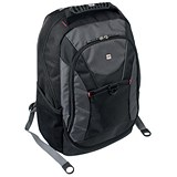 Image of Gino Ferrari Riva Laptop Backpack Nylon Capacity16inch Black Ref GF508
