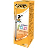Image of Bic Cristal Fun Ballpoint Pen / Orange / Pack of 20