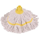 Image of Robert Scott & Sons Hygiemix T1 Socket Mop Cotton & Synthetic Yarn Colour-coded 200g Yellow Ref YLTY20