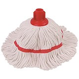 Image of Robert Scott & Sons Hygiemix T1 Socket Mop Cotton & Synthetic Yarn Colour-coded 200g Red Ref YLTR20