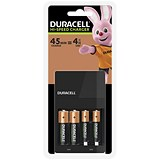 Duracell 45 Minute Battery Charger for NiMH AA/AAA LED