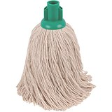 Robert Scott & Sons Rough Surface Mop Head / Socket / PY Yarn / 16oz / Green / Pack of 10